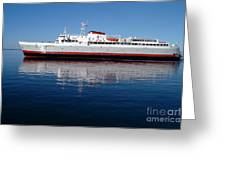 Black Ball Ferry Greeting Card