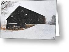 Black Barn II Greeting Card