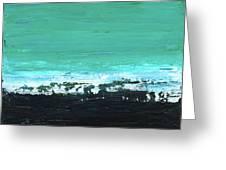 Black Beach Greeting Card