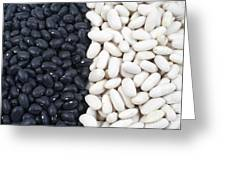 Black Beans And White Beans Greeting Card