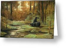 Black Bear - Autumn Greeting Card