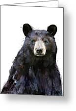 Black Bear Greeting Card