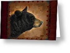 Black Bear Lodge Greeting Card by JQ Licensing