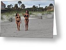 Black Bikinis 29 Greeting Card