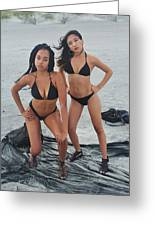 Black Bikinis 4 Greeting Card