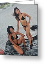 Black Bikinis 5 Greeting Card