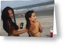 Black Bikinis 51 Greeting Card