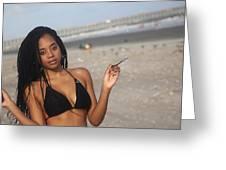 Black Bikinis 57 Greeting Card
