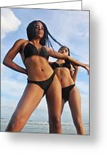 Black Bikinis 66 Greeting Card