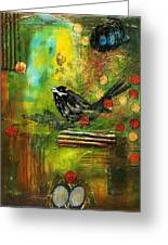 Black Bird Come Home Greeting Card