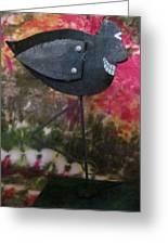 Black Bird Greeting Card by David Sutter