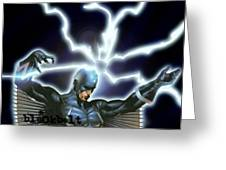Black Bolt Greeting Card