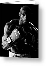 Black Boxer In Black And White 03 Greeting Card