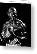 Black Boxer In Black And White 05 Greeting Card