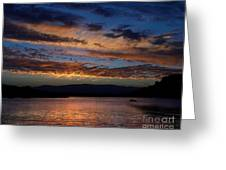 Black Butte Sunset Greeting Card