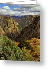 Black Canyon Of The Gunnison - Colorful Colorado - Landscape Greeting Card