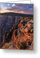 Black Canyon Sunset Glow Greeting Card