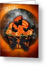 Black Cat Cupcake Greeting Card