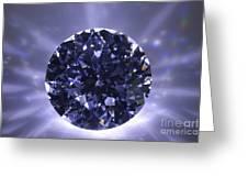 Black Diamond Shine Aura. Greeting Card
