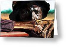 Black Farmer Greeting Card