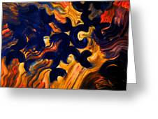 Black Fire Greeting Card
