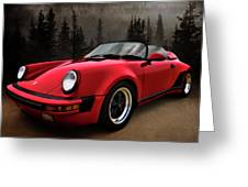 Black Forest - Red Speedster Greeting Card by Douglas Pittman