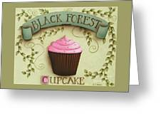 Black Forest Cupcake Greeting Card by Catherine Holman
