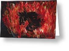 Black Fury Greeting Card