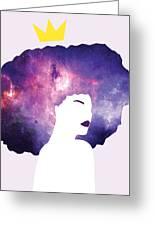 Black Girl Magic Lavender Greeting Card