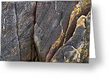 Black Granite Abstract Two Greeting Card