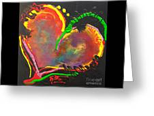 Abstract Multi Colored Heart Greeting Card