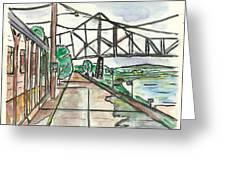 Black Hawk Bridge Greeting Card