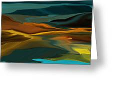 Black Hills Abstract Greeting Card by David Lane