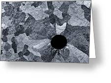 Black Hole - Galvanized Steel - Abstract Greeting Card