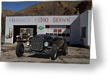 Black Ford Hot Rod Convertible Greeting Card