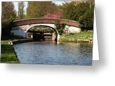 Black Jacks Bridge And Lock Greeting Card