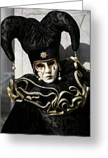 Black Jester Greeting Card