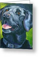 Black Lab Forever Greeting Card by Susan A Becker