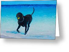Black Labrador Painting Greeting Card