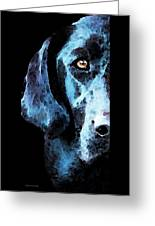 Black Labrador Retriever Dog Art - Hunter Greeting Card by Sharon Cummings