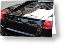 Black Lamborghini Sports Car  Greeting Card