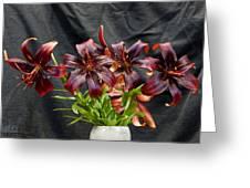 Black Lilies Greeting Card