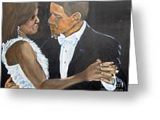 Black Love Is Black Power Greeting Card by Saundra Johnson