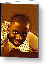 Young Black Male Teen 1 Greeting Card