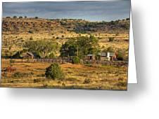 Black Mesa Ranch Greeting Card by Charles Warren