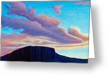 Black Mesa Sunset Greeting Card