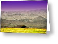 Black Mountains Az Greeting Card