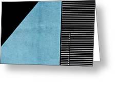Black On Blue Greeting Card