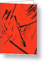 Black On Red Greeting Card