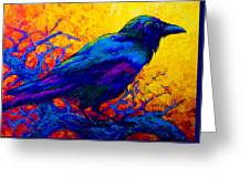 Black Onyx - Raven Greeting Card